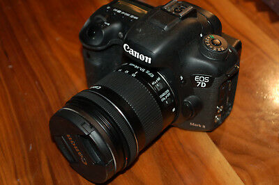 Canon EOS 7D Mark II 20.2MP Digital SLR Camera w/lens LOW SHUTTER COUNT-1432