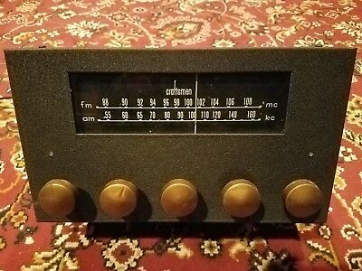 Craftsmen Model 10,vintage tube tuner,for using on audio integrated amplifiers