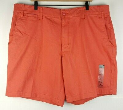 Shorts Nice The Foundry Young Mens Size 50 Big Tall Shorts Comfort Stretch Coral Flat Front