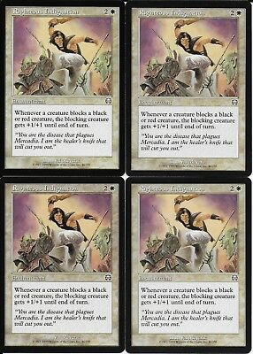 Righteous Indignation FOIL Mercadian Masques NM-M White Uncommon CARD ABUGames