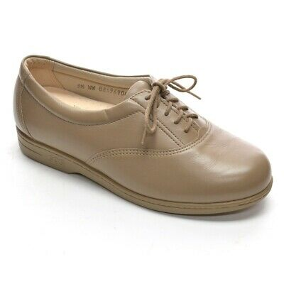 cf0b160b6a8678 SAS Whisper OXFORDS Made in USA Womens 5.5 WW Mocha Leather Lace Up New in  Box