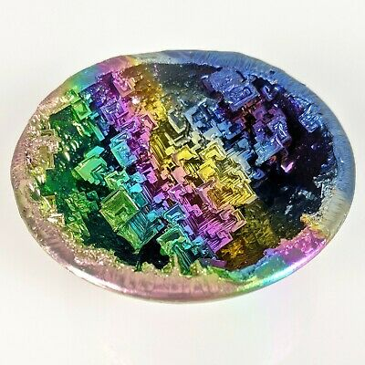 GEMCORE: One(1) Ultra-Vivid Bismuth Rainbow Geode Crystal Chakra Dragon Egg