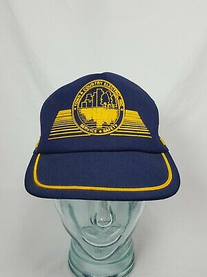 Vintage 3 Stripes Mesh SnapBack Trucker Hat Cap Town & Country Electric Inc. USA