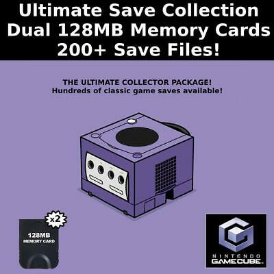 Ultimate Save Collection | 200+ Saves | 100% Complete | 2 GameCube Memory Cards