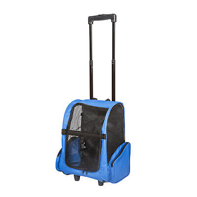 Pet Travel Rolling Backpack Rolling Carrier for Dogs Pet Carrier with Wheels
