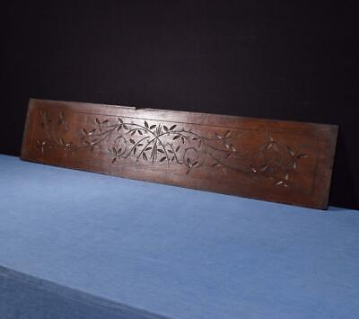 """*43"""" French Antique Hand Carved Architectural Panel Solid Oak Wood Salvage"""