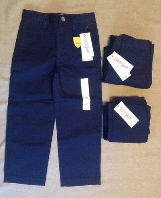 New! 3 Pairs Kids Size 4 School Uniform Pants, Navy Blue, Cat & Jack Target