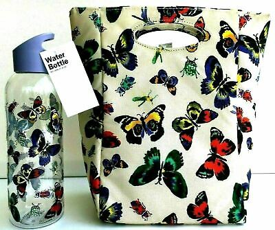 BUTTERFLY Insulated Lunch Tote & Water Bottle Bag Lot and Set