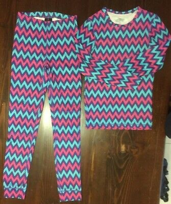 Crane Girls Size 12 Winter Thermals - Top and Leggings in VGUC