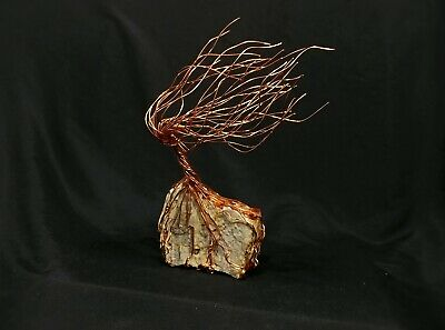 Copper Wire Spirit Tree #1683 Steampunk Housewarming Mother's Day Christmas Gift