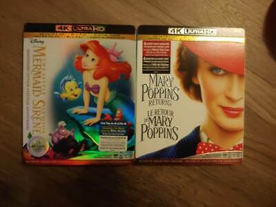 The Little Mermaid  Anniversary 4K Ultra HD AND MARY POPPINS RETURNS 4K