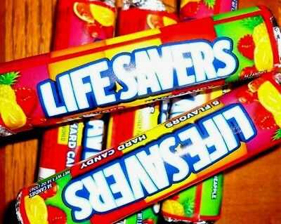 70 Total Candies! 5 Rolls of 14 Life Savers Hard Candy Five Flavor