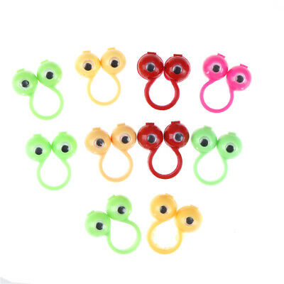 10pcs eyes finger puppets plastic rings with wiggle eyes party favors kids gifts