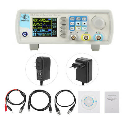 JDS6600 100MHz Two Channel Arbitrary Waveform DDS Signal Generator Pulse 14bits