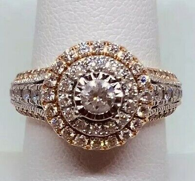 Zales 1 1 2 Ctw Rose Gold Large Chunky Engagement Ring Wow Warranty Included 1 588 88 Picclick
