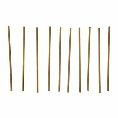 1X(10Pcs Brass 100mm x 3mm Round Rod Stock for RC Airplane Model G5D5)
