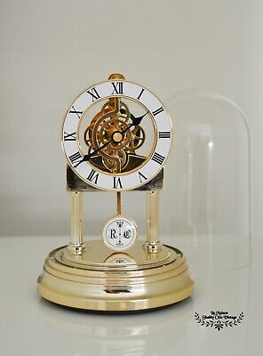 Vintage Dome Clock Pendulum Dome Rhythm Quartz Mantle Desktop Clock