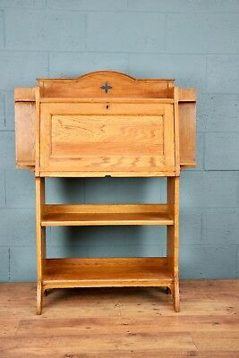 Arts and Crafts Oak Bureau Bookcase, Desk (100568)