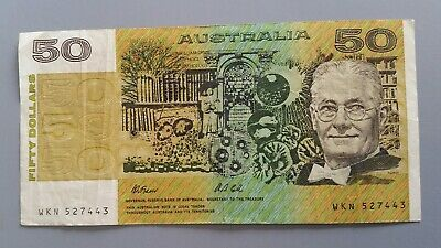 Australian 50 Dollar Paper Note. WKN 527443. Fraser & Cole Fifty Dollar Note $50