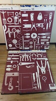 Four Rover Service Industrial Metal Shadow Tool Board Industrial Steam Punk.
