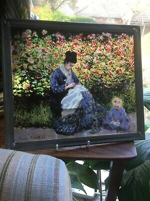 Monet Art Glass Picture Camille Impressionism Lead Frame Museum Fine Arts Boston
