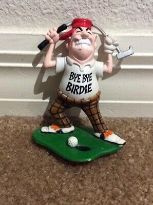 1996 Bakery Crafts Angry Golfer W Golf Club Over The Head Bye Bye