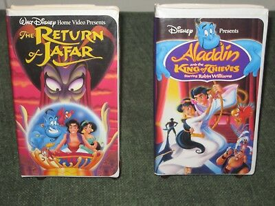 Aladdin And The King Of Thieves 1996 & The Return Of Jafar 1994 Lot 2 Disney VHS