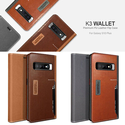 Obliq Card Fordable Flip Leather Wallet Cover For Galaxy S10 S10 PLUS S10e Case