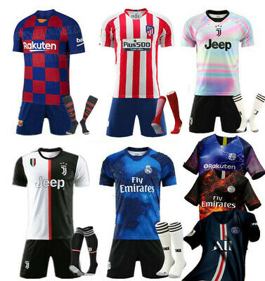 Boys' Clothing (2-16 Years) New Kids Adult Football Full Kit Youth Jersey Strips Boys Soccer Training Outfit