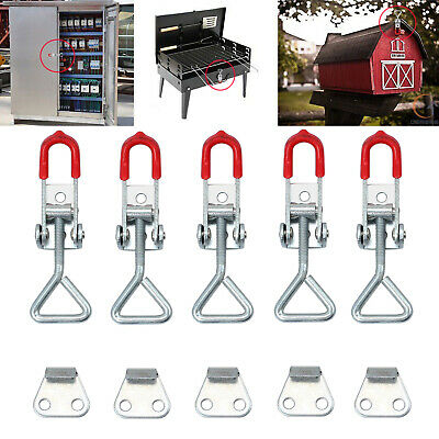 5PCS Adjustable Cabinet Cupboard Boxes Case Latch Catch Metal Toggle Latch Hasp