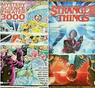 Double Sided Stranger Things / Mystery Science Theater 3000 poster Netflix Comic