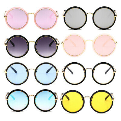 Kids Sunglasses Girls Child Goggle Candy Color Lens Sun Glasses Round Sunglasses