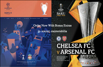 UEFA Programme Final Bundle 2019 - Champions League / Europa League - Mint