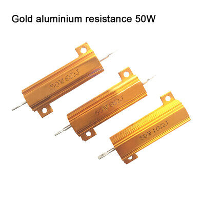 0.1-1k Ohm 50w-100w Gold Aluminum Shell ResistanceHoused Case Wirewound Resistor