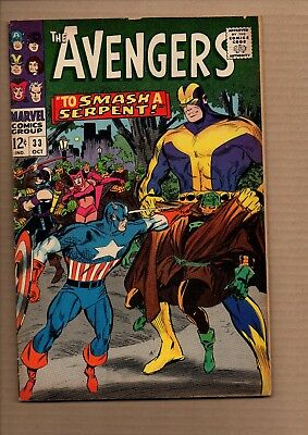 Avengers, Vol 1 #33 - Silver Age - Very Good / Fine