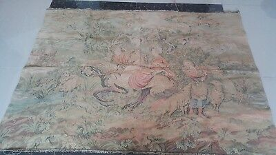 "Antique 19c Aubusson English style  Tapestry size 38""x53""(cm97'134))"