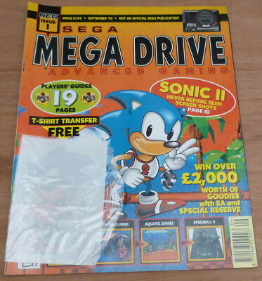 sega megadrive advanced gaming Magazine issue 1 with free transfer