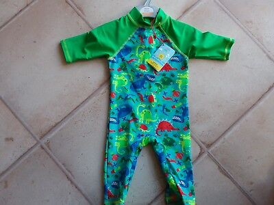 Baby Boys UVA Swimsuit Age 9-12 Months BNWT