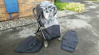 Mamas and Papas Urbo Elite Pushchair with spare seat liner and foot muff