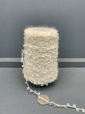 200G 2Nm Mohair Wool Nylon Mix Yarn Raw White Ecru