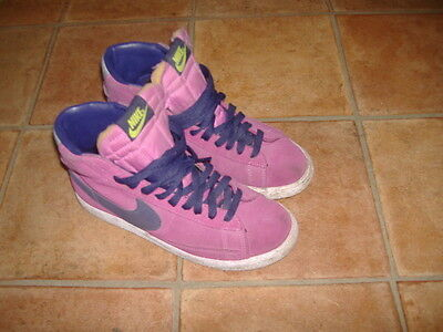 Nike Blazer Hi-Top Ladies Trainers,Size Uk 4,G/C,Designer Ladies/Girls Shoes