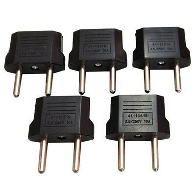 5Pcs US/USA to European Euro EU Travel Charger Adapter Plug Outlet Converter MG~