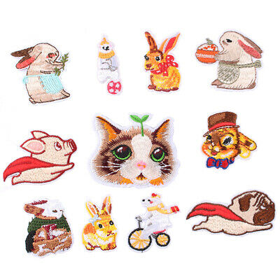 11pcs/lot  Cute Animals Embroidered Iron/Sew ON Patch Kids clothes DIY design