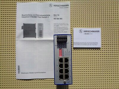 NEW Hirschmann RS2-TX RS2 TX industrial Ethernet Rail Switch 943 686-003