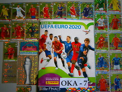 Complete New Panini Road To UEFA EURO 2020 Loose Stickers Set And Empty Album