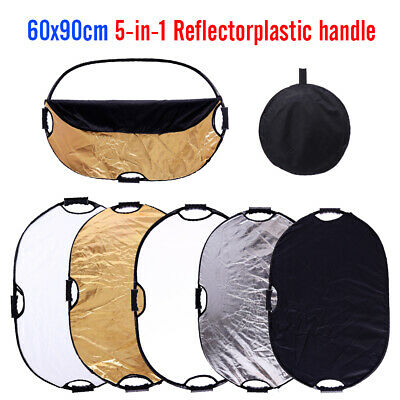 60x90cm 5in1 Photography Light Mulit Collapsible Portable Photo Reflector Studio