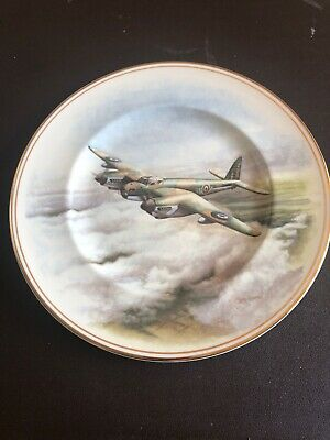 Fenton China Gilded Decorative Plate Featuring Mosquito Plane