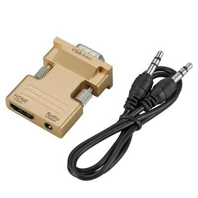 Support 1080P Output HDMI Female to VGA Male Adapter Converter with Audio Cable