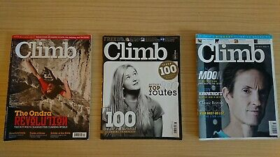 Climb Magazine Issues Dec 2012, June 2013, Oct 2014 Climbing
