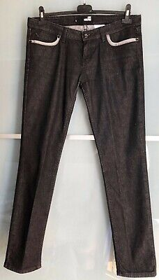 Moschino Love Trousers Jeans Slim Fit Vita Bassa - Pantaloni Nero Tg. 31